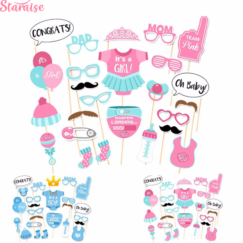 Baby SHOWER Photo Booth Props Girl or Boy