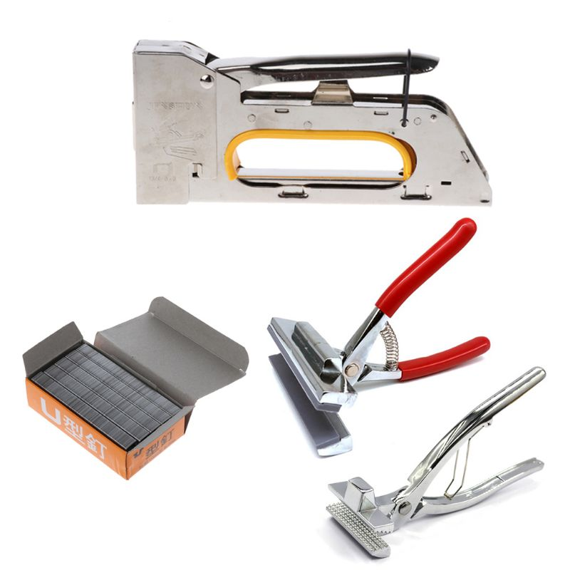 Nail Staple Gun Set Fit For Door Type Nails With Canvas Plier Art Painting Tool