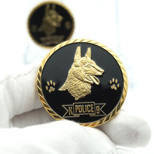 5pcs/lot In Dogs We Trust With Paws we Bust Police Dogs Gold Plated Souvenir Gift Coins American Challenge Coin indust we trust свитер