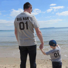 New Family matching clothes 100%cotton fashion coat dad kids t-shirt family big Little man father baby boy summer casual