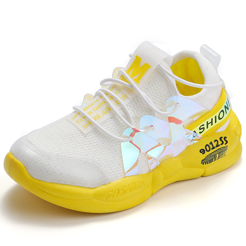 Kids Shoes 2020 Spring New Light Shoes Candy Color Luminous Shoes Boys And Girls Shoes Knitted Sneakers