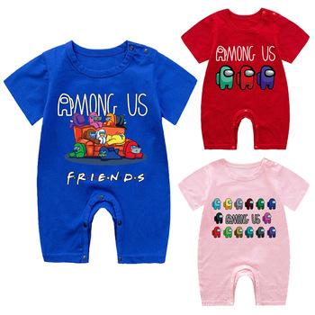 Ubranka dla niemowląt ubranka dla niemowląt śpioszki dziewczęce ubranka dla niemowląt ubranka dla dzieci romper dla dzieci letnie ubrania dla niemowląt zestaw ubranek dla chłopca tanie i dobre opinie COTTON CN (pochodzenie) Lato Dziecko dla obu płci W wieku 0-6m 7-12m 13-24m 25-36m W stylu rysunkowym baby Z okrągłym kołnierzykiem