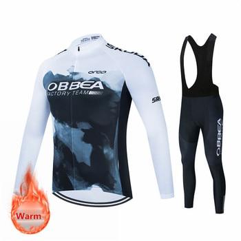 2021 pro equipe de inverno lã quente ciclismo terno, homem ciclismo terno, esportes ao ar livre, mtb bicicleta uniforme kit triathlon 1