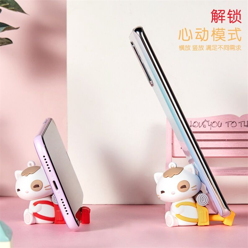 Cute Cat Phone Holder,cartoon Lucky Cat Stand,original Design,high Quality Smartphone Universal Bracket