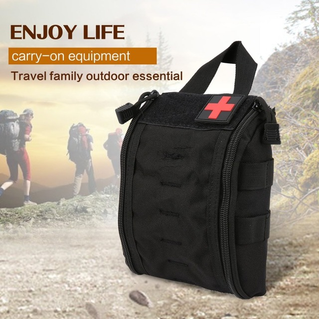Outdoor Portable First Aid Bag Tactical Medical Storage Bag Multifunctional Waist Pack Pouch Camping Emergency Organizer Bag 2