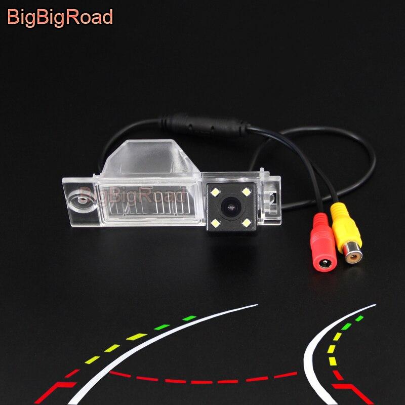 BigBigRoad voiture intelligente dynamique piste vue arrière caméra de recul CCD pour Hyundai nouveau Tucson IX35 IX 35 2015 2016 2017 2018