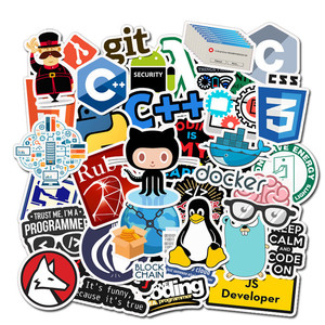 50Pcs Internet New Programming Sticker Pack Geek Php Docker Html Laptop Refrigerator Phone Skateboard Travel Suitcase DIY Waterp