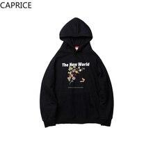 Creative Planet Leaf Print Hoodies Sweatshirts Streetwear Men Harajuku Hip Hop Casual Fleece Pullover Hooded Hoodie недорого