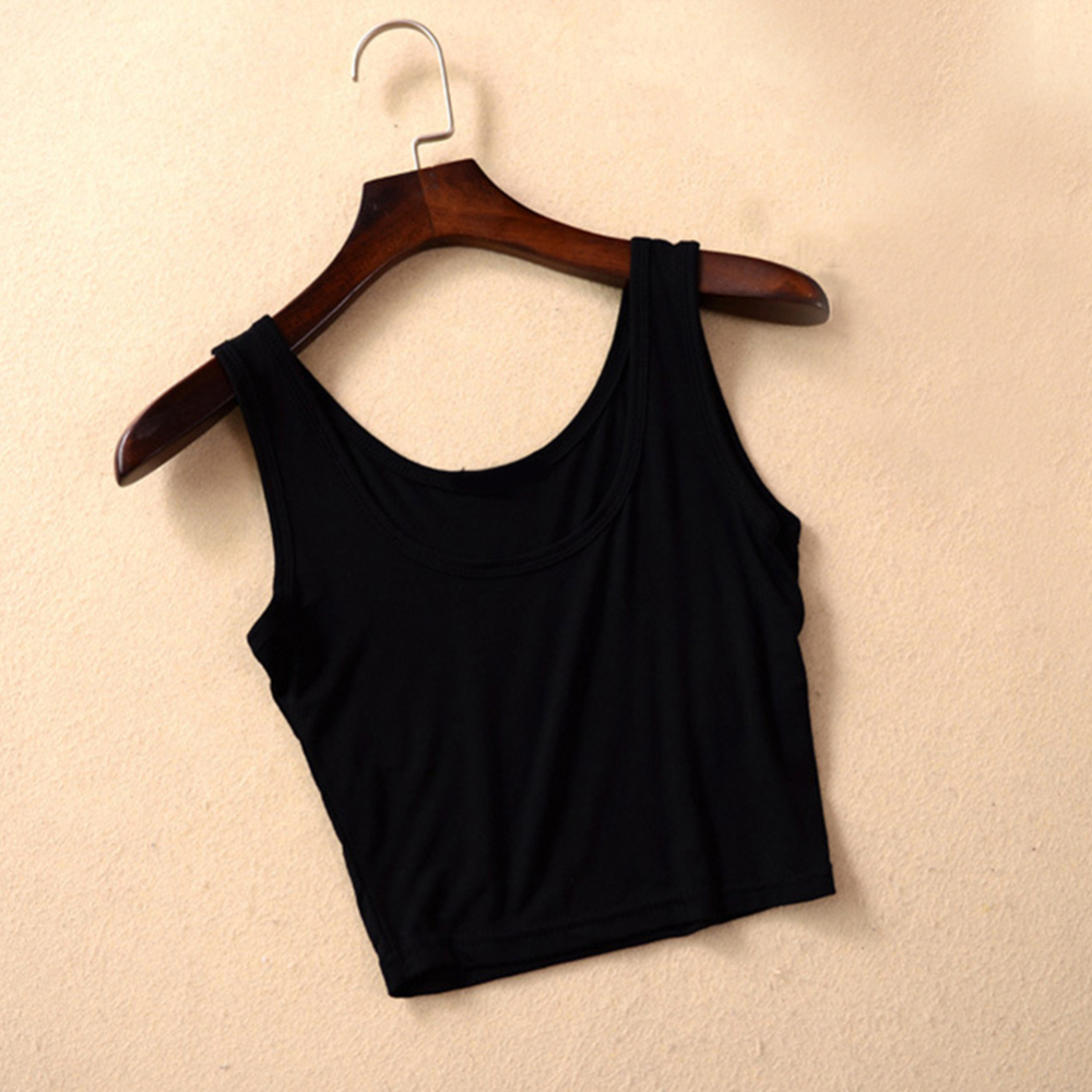 2020 New Female Women Sexy Crop Top Ladies Sleeveless Tank Tops T Shirt Tee Short halter Tops Fashion Summer Basic Stretch Tops
