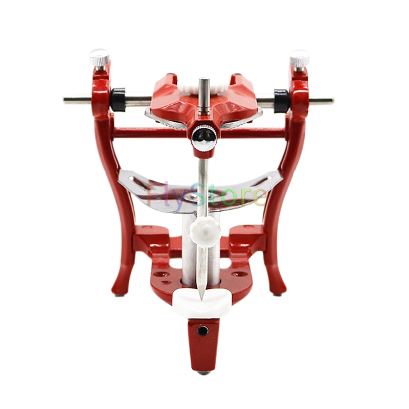 1set Red Dental Articulator Lab Surgical Dental Stainless Steel Dental Operating