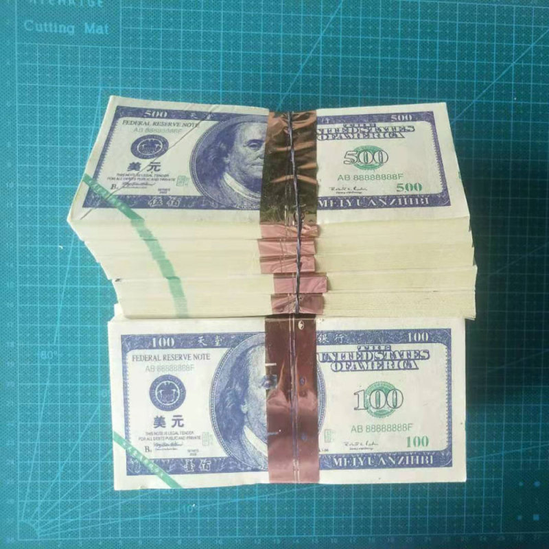 80pcs/lot Ancestor Money For Colored America Banknotes 100 Or 500 Dollars Joss Paper Heaven Bank Currency Gifts 15.5x7.5 Cm