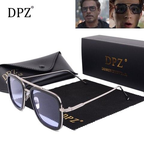 2019 DPZ Avengers Tony Stark Flight 006 Style Sunglasses Men Square Aviation Brand Design Sun Glasses Oculos De Sol UV400 Lahore