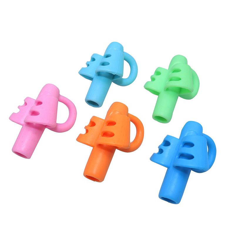 5 Pcs Three Fingers Silicone Pen Grip Student Stationery Teaching Equipment Silicone Pen Holder Child Writing Correction