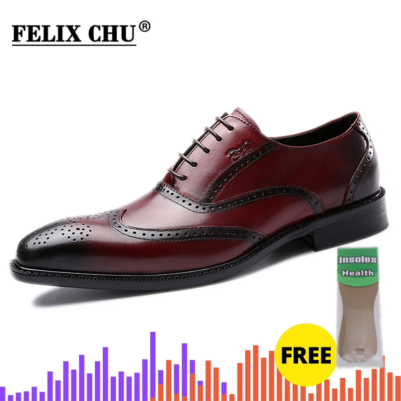 Mens Color Pieces Lace Up Dress Formal Shoes Wing Tip Oxford Brogues Chic Causal