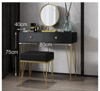 Nordic light luxury dressing table bedroom modern minimalist dressing table small European dressing table net red ins wind northern europe light luxury style dressing table bedroom modern simple dressing table small family european style dressing tabl