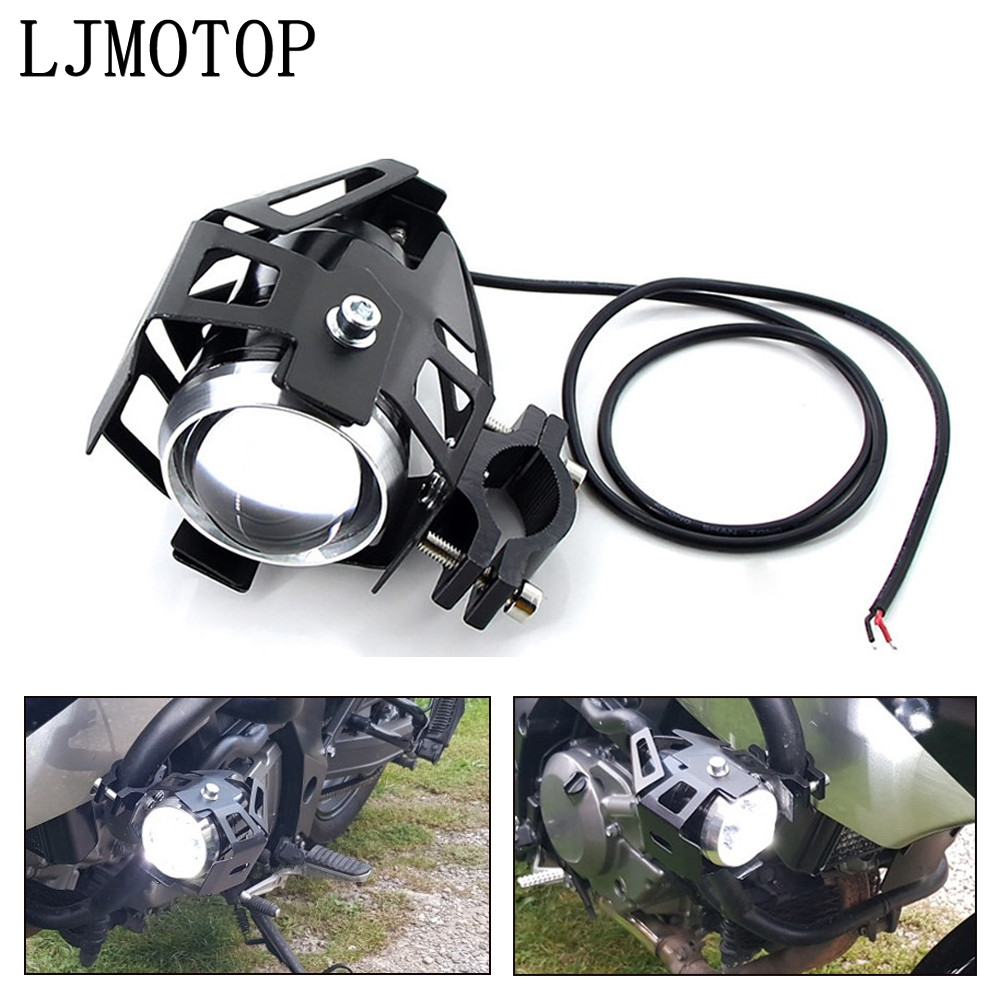 motorcycle headlights auxiliary lamp U5 led spotlight 12V DRL For Honda CR 250 NC750X Kawasaki KX 125/65 KX250F rayon|  - title=
