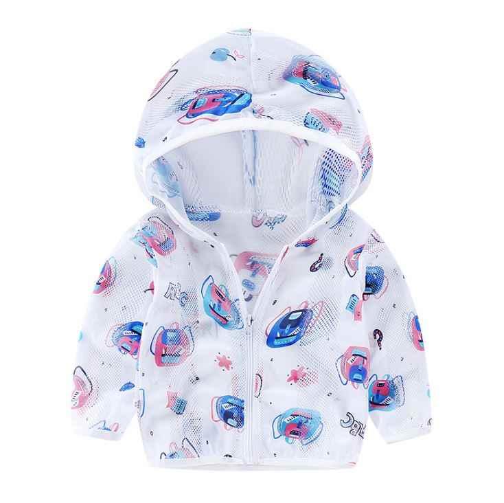 2020 เด็กป้องกันดวงอาทิตย์เสื้อผ้าฤดูร้อนฤดูใบไม้ร่วงเด็กชายเด็กหญิงบางครีมกันแดดเด็กเสื้อชายหาดOutwear