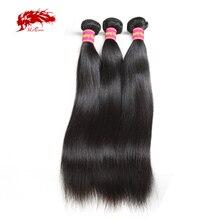 """Ali kraliçe saç brezilyalı düz saç örgü demetleri 10 """" 30"""" Remy saç 3/4 adet doğal renk 100% insan saç uzatma"""