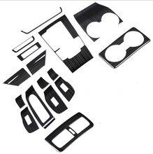 اكسسوارات السيارات الداخلية ، ملصقا لوحة والعتاد ، نافذة زر تقليم لمازدا 3 AT RHD 2019 2020,16 قطعة ، الفولاذ المقاوم للصدأ