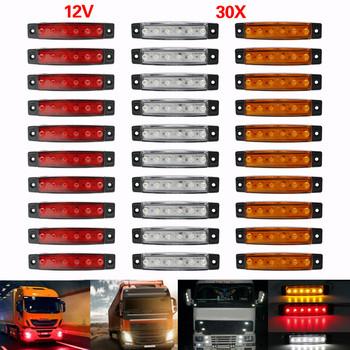 24V 12v 6SMD światła samochodów ciężarowych obrysówki led światła samochodów autobus ciężarówka ciężarówka boczne obrysówka kierunkowskaz lampy przyczepy tylna boczna lampa tanie i dobre opinie Bakuis CN (pochodzenie) Lampa tylna Zgromadzenia Y-S21 Rohs 9 5cm ABS shell 12 V 24 V 0 6kg LED Side Marker Lights Suzuki