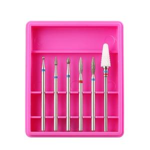 Image 2 - 6pcs Ceramic Diamond Nail Drill Mix Bits Set Milling Cutter for Manicure Electric Machine Pedicure Burrs Nail Art Accessories