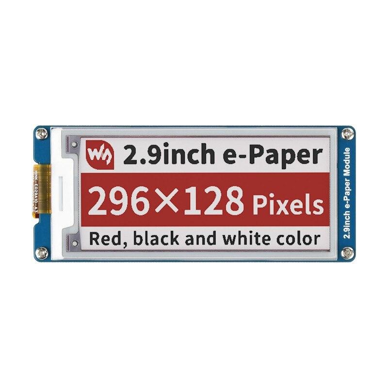 Трехцветный модуль электронной бумаги 2,9 дюйма для Raspberry Pi Jetson Nano разрешение 296 × 128 интерфейс SPI дисплей eInk