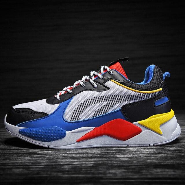 高品質の男性の靴カジュアルスニーカーサファイアメッシュメンズ快適な通気性レースアップchaussureオムビッグサイズ 39 47