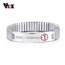 Mothers Day Personalized Medical Alert Bracelet Engraved DIABETES Emergency Rescue Color