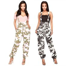 Camouflage Bib Wit Sexy Jumpsuit Clubwear Casual Plus Size Zomer Vrouwen Elegantie Jumpsuits Voor Vrouwen 2019 Harajuku(China)
