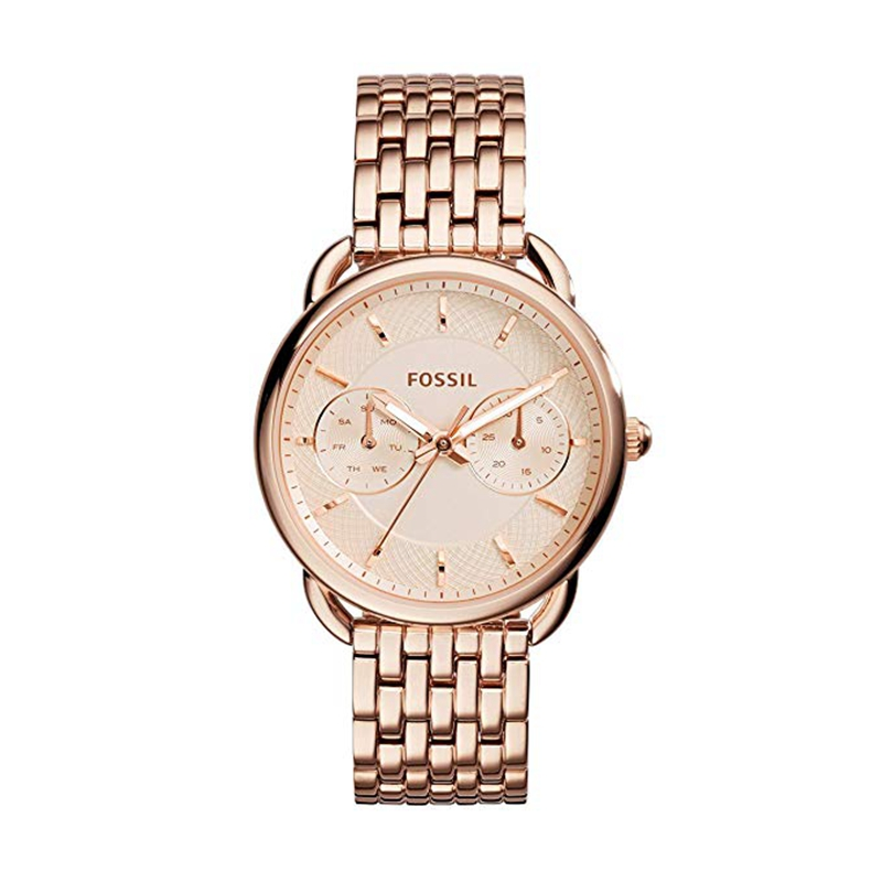 Fossil Women's Watch Tailor Multifunction Rose-Tone Stainless Steel Watch Luxury Brand Ladies Wrist Watches ES3713