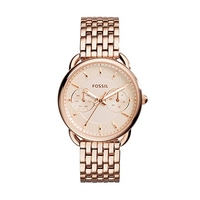 Fossil Women's Watch Tailor Multifunction Rose Tone Stainless Steel Watch Luxury Brand Ladies Wrist Watches ES3713