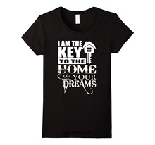 Funny Men t shirt white t-shirt tshirts Black tee Funny Realtor T Shirt - I Am The Key To The Home Of Your Dream(China)