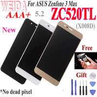 "WEIDA 5.2""For ASUS Zenfone 3 Max ZC520TL LCD Display Touch Screen Assembly Digitizer with Frame For ASUS X008D LCD Free Tools"