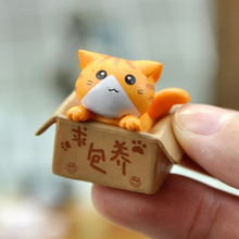Ornament Garden Miniature Figurines Room-Decoration Mini Cat Kids Children Cute Gift
