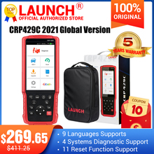 LAUNCH X431 CRP429C OBD Lector de código OBD2 escáner para 4 sistemas de diagnóstico + 11 función de reinicio CRP429 herramienta de escaneo mejor CRP129