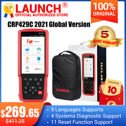 LAUNCH X431 CRP429C OBD OBD2 Code Reader Scanner for 4 system diagnostic +11 reset function CRP429 Scan tool better CRP129