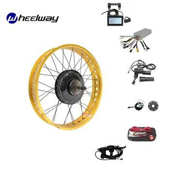 Kit de conversión de Bicicleta eléctrica para la nieve, neumático ancho de...