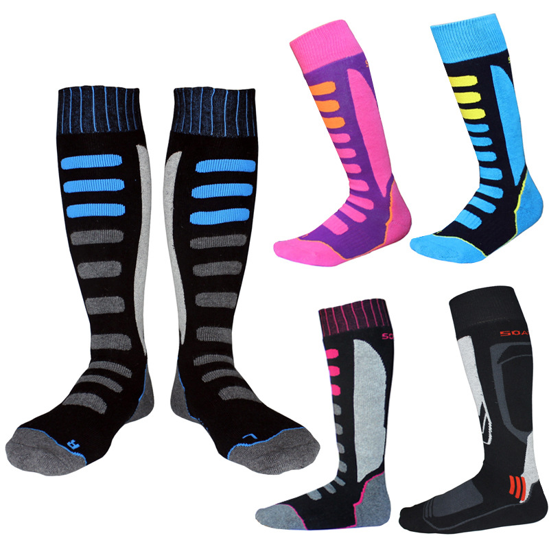 Men Women Skiing Socks Winter Outdoor Sport Snowboarding Hiking Ski Socks Warm Thicker Cotton Thermosocks
