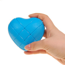 Yongjun Moyu 3X3X3 Stickerloze Hartvormige Magische Kubus Snelheid Puzzel Kubus Kinderen Speelgoed Educatief Speelgoed