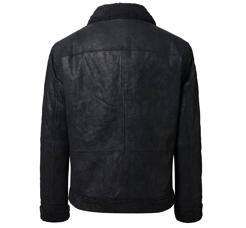 H1e1f22b1567f425084102b416a449004e New Men's Real Leather Jacket Faux Fur Collar Genuine Leather Jacket