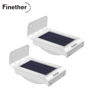 Image 1 - 2 uds, Nueva Generación, 16 LED, energía Solar, Sensor de movimiento por infrarrojos PIR, lámpara de seguridad para jardín, luz exterior para decoración de jardín