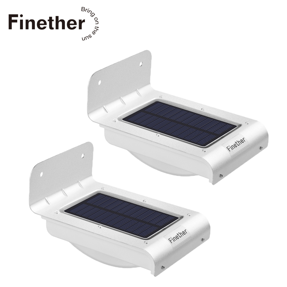 2PCS 16 LEDs Outdoor Solar Motion Light Infrared Sensor Wall Lamp For Garden Security Lighting Outdoor Light