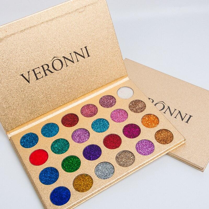 VERONNI 24 Colors Nude Eyeshadow тени Makeup Pigments Waterproof Professional Glitter Nude Eye Shadow Make Up Palette