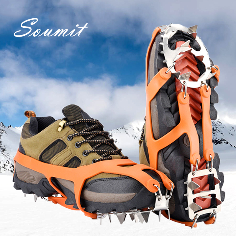 OVER THE SHOE SNOW /& ICE GRIPS SPIKES SNOW CLEATS GRIPPERS CRAMPONS Size 10-12