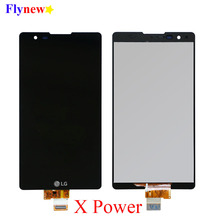 Dokunmatik LCD ekran LG X Güç K220 K220DS Digitizer Meclisi Ile Çerçeve K220DSF K220DSZ K220F K220H K220T Yerine