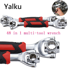 Yalku 48 in 1 Tiger Wrench 360 Degree Torque Key Multitool 12-teeth Spanner Universial Furniture Car Repair