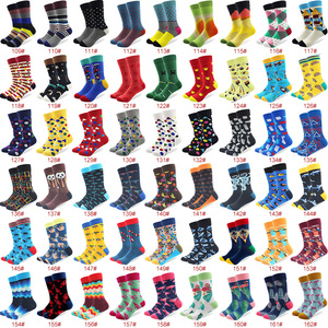 Image 4 - 100 Pairs/lot Wholesale Men Colorful Striped Cartoon Combed Cotton Socks High Quality Crew Wedding Casual Happy Funny Sock Crazy