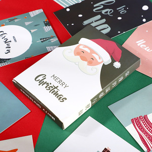 Image 4 - 120pcs החג שמח גלויות סנטה חג המולד מציג Creative מכתבים כתיבת ברכה מתנות גלויות חדש שנה כרטיס
