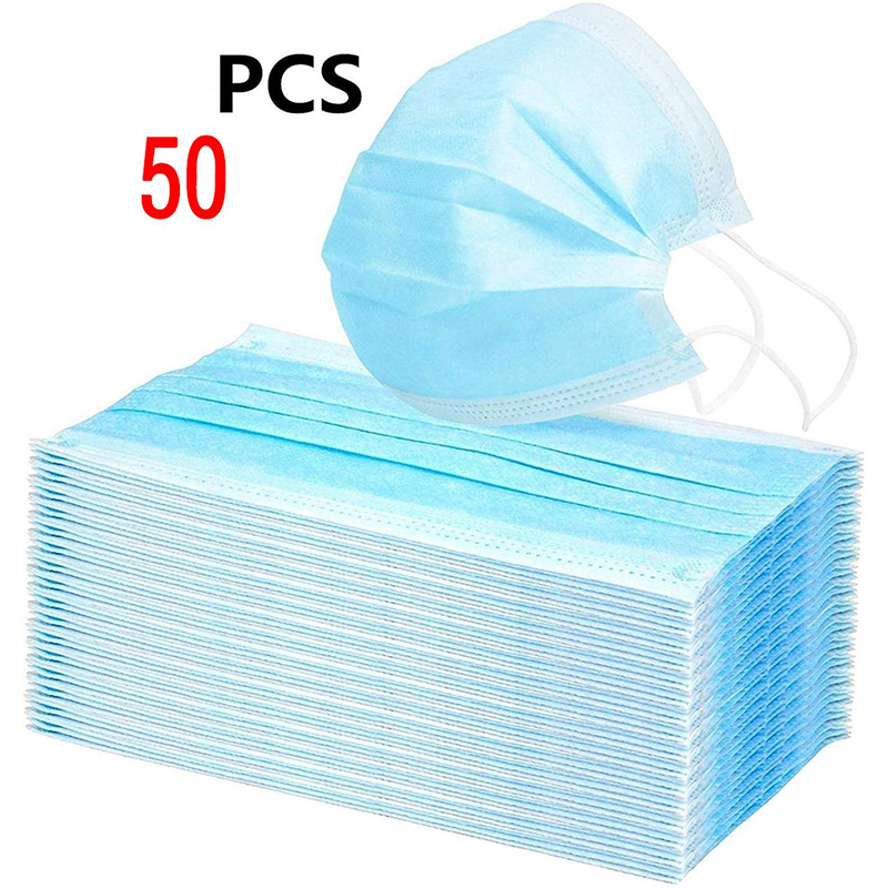 3 Layer Disposable Mask Face Non-woven Mask Mouth Anti Dust Nose Cover Respirators Unisex Adult Ear Loop Masks 48 Hours Shipping