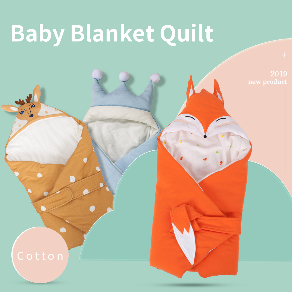 Baby Blanket Quilt Blanket For Discharge Newborn Baby Swaddle Wrap Cute Cartoon Shape 100% Cotton 80*80Cm Bedding Carriage Sack